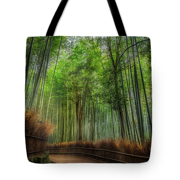 Tote Bag featuring the photograph Bamboo Path by Rikk Flohr