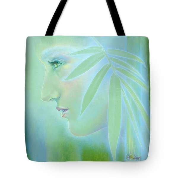 Tote Bag featuring the painting Bamboo by Ragen Mendenhall