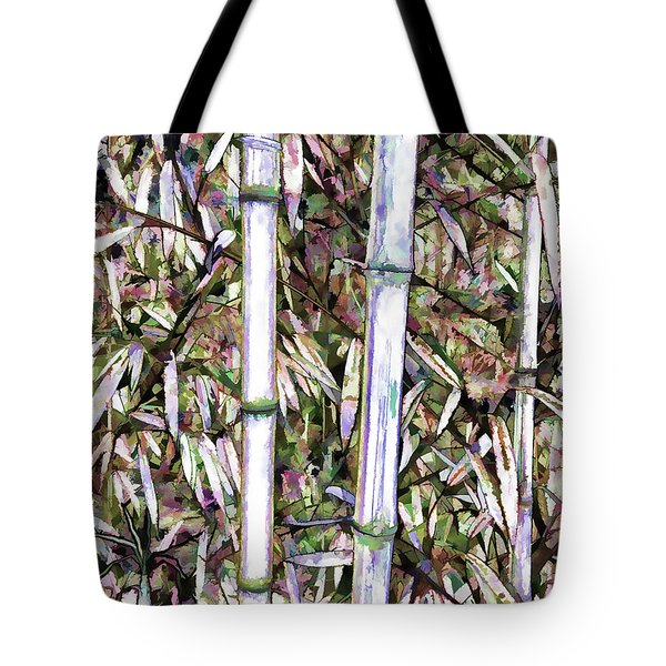 Bamboo Stalks Tote Bag by Lanjee Chee