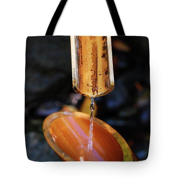 Bamboo Water Fountain Tote Bag