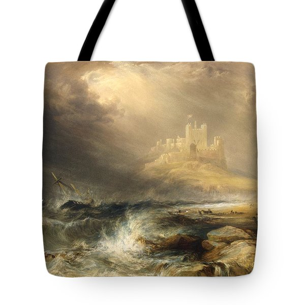 Bamborough Castle Tote Bag by Willliam Andrews Nesfield