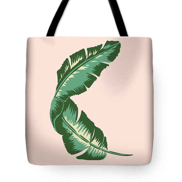 Banana Leaf Square Print Tote Bag