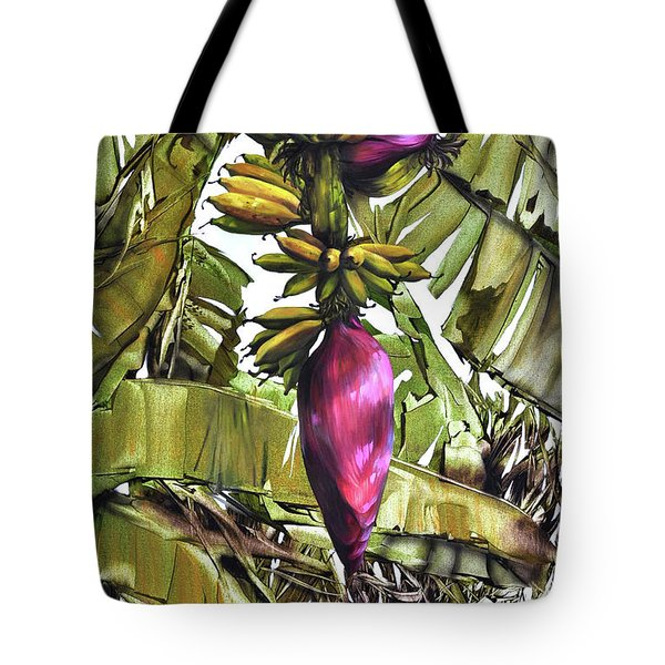 Tote Bag featuring the painting Banana Tree No.2 by Chonkhet Phanwichien