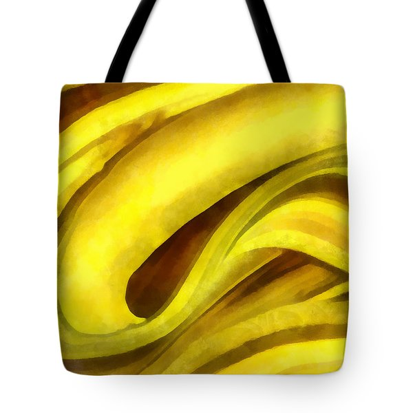 Tote Bag featuring the digital art Banana With Chocolate by Francesa Miller