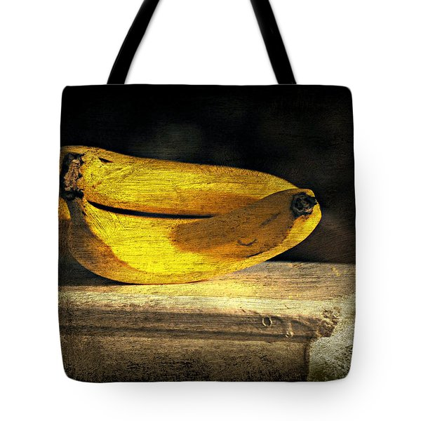 Tote Bag featuring the photograph Bananas Pedestal by Diana Angstadt