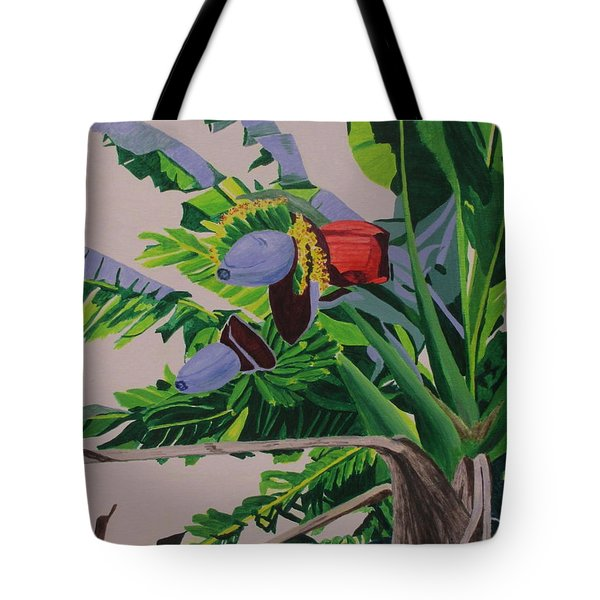 Tote Bag featuring the painting Bananas by Hilda and Jose Garrancho