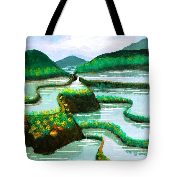 Tote Bag featuring the painting Banaue by Cyril Maza