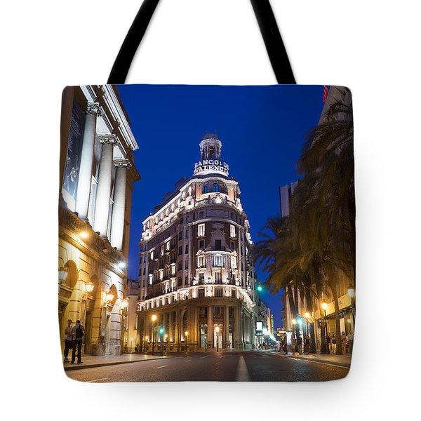 Banco De Valencia Tote Bag