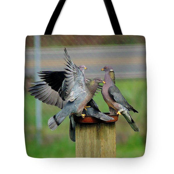Band-tailed Pigeons #1 Tote Bag