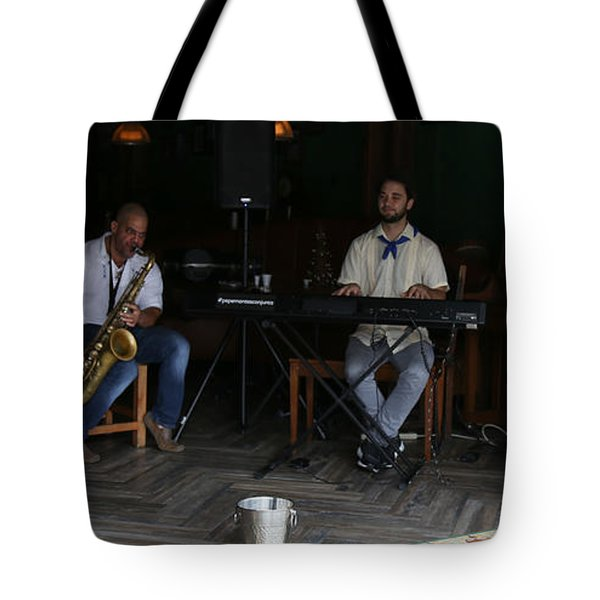 Band With Pink Girl Tote Bag