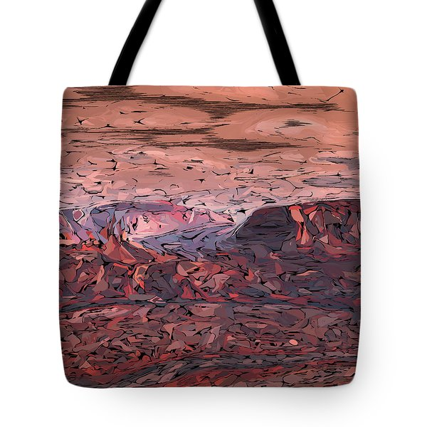 Banded Canyon Abstract Tote Bag