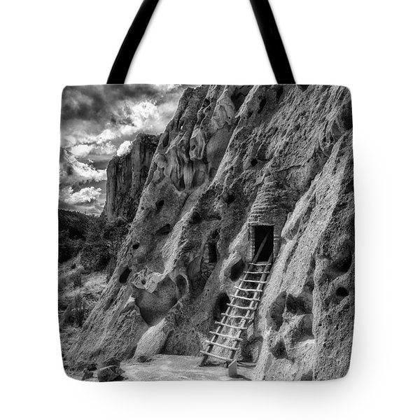 Tote Bag featuring the photograph Bandelier Cavate by Bitter Buffalo Photography