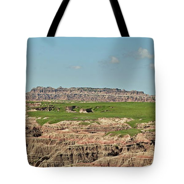Badlands Panorama Tote Bag