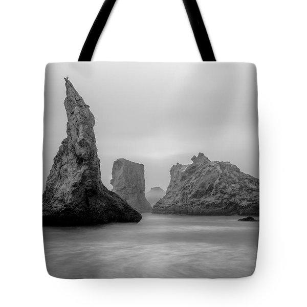 Bandon Beach In The Fog Tote Bag