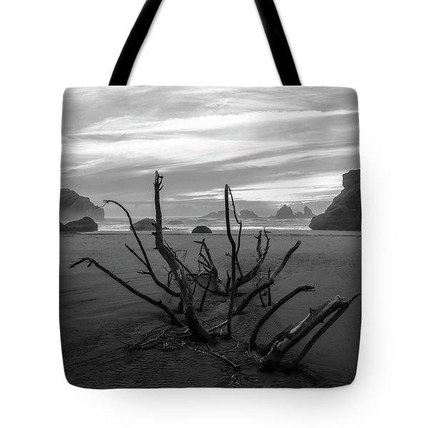 Bandon Beach Tree Tote Bag