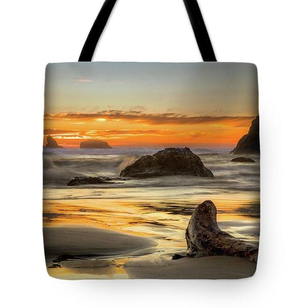 Bandon Orange Glow Sunset Tote Bag