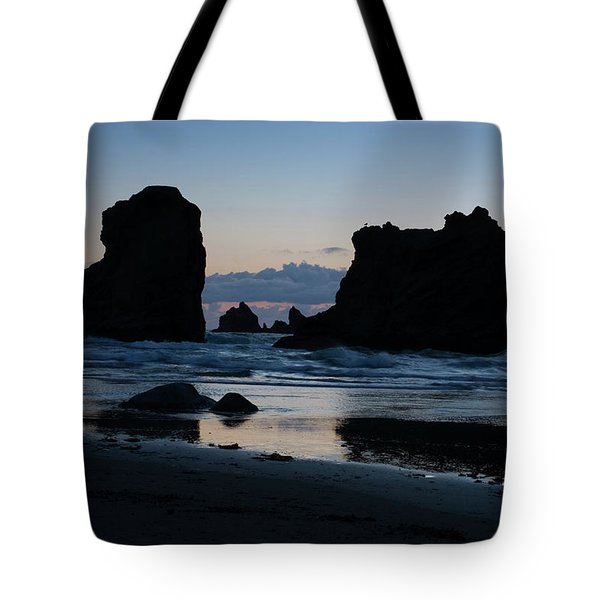 Bandon Oregon Sea Stacks Tote Bag