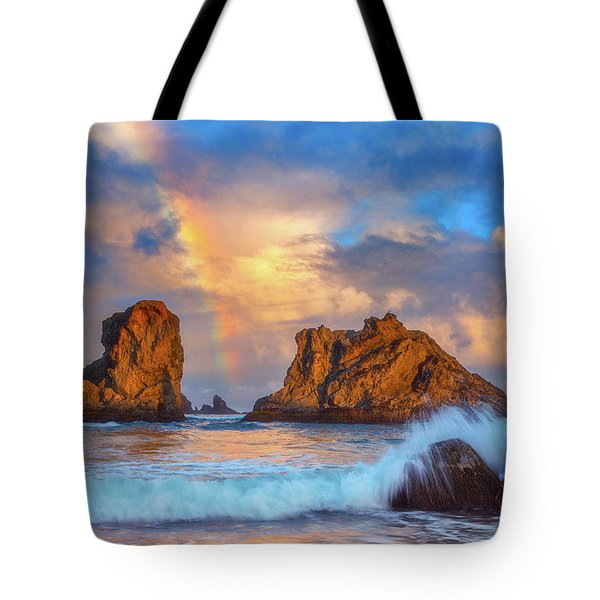 Bandon Rainbow Tote Bag by Darren White