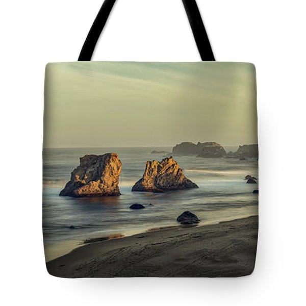 Bandon Sunrise Pano Tote Bag
