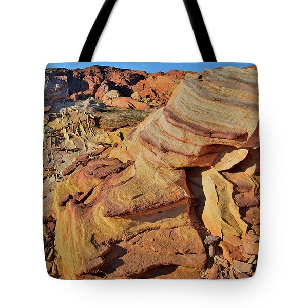 Bands Of Colorful Sandstone In Valley Of Fire Tote Bag
