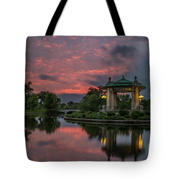 Bandstand In Front Of The Muny Tote Bag