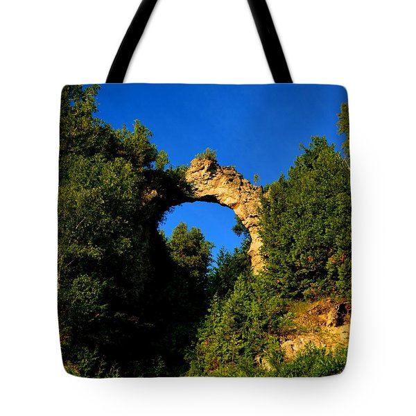Beneath Arch Rock Tote Bag