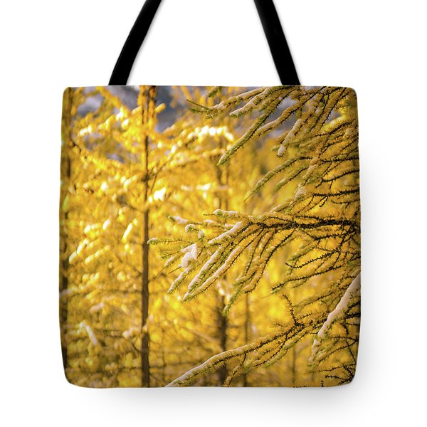 Banff Larch Valley Forest Of Gold Tote Bag