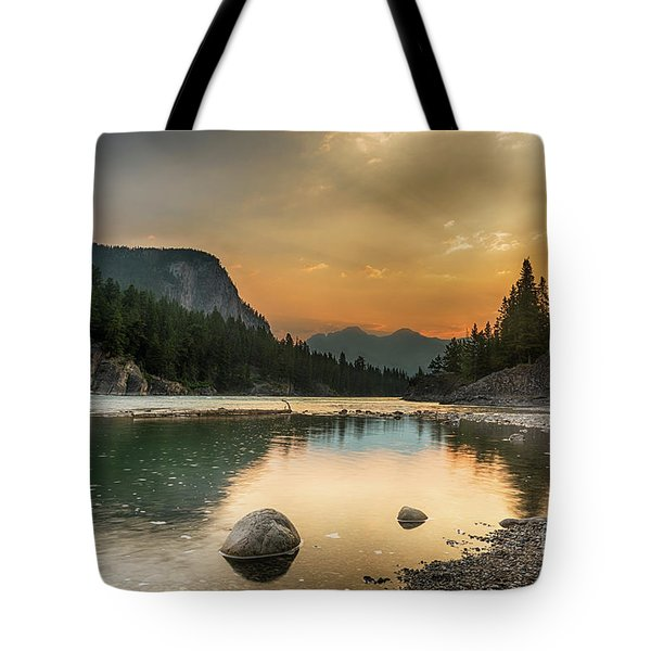 Banff Sunrise Tote Bag