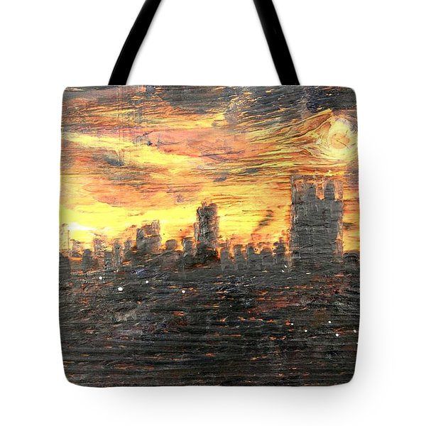 Bangkok City Sunset Glow Tote Bag