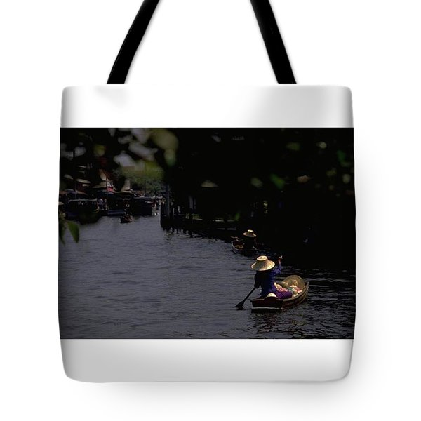 Bangkok Floating Market, Thailand Tote Bag