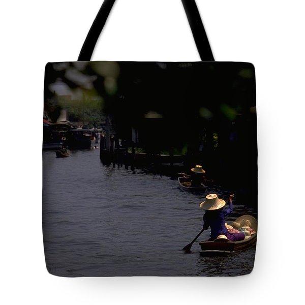 Bangkok Floating Market Tote Bag