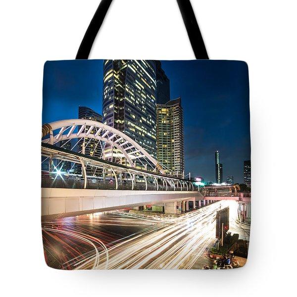 Bangkok Night Rush  Tote Bag