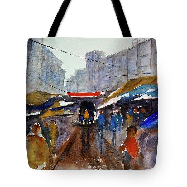 Bangkok Street Market Tote Bag