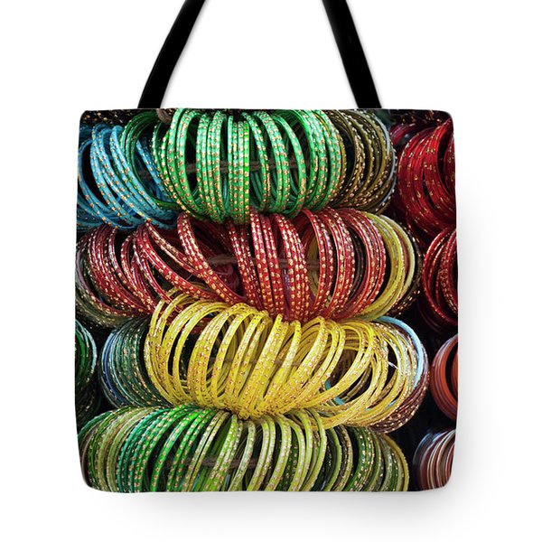 Tote Bag featuring the photograph Bangles Of India by Tim Gainey