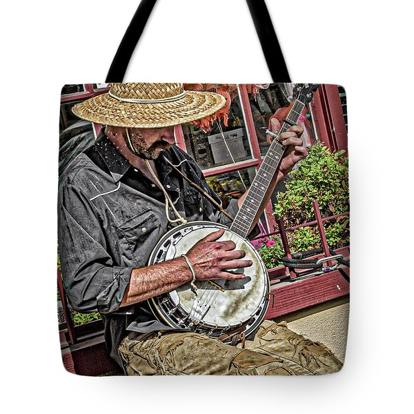 Banjo Man Orange Tote Bag