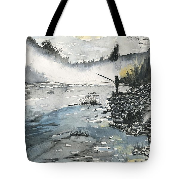 Bank Fishing Tote Bag