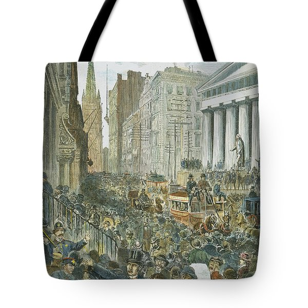 Bank Panic, 1884 Tote Bag by Granger