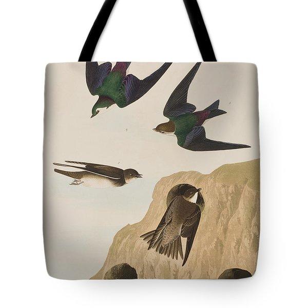 Bank Swallows Tote Bag by John James Audubon