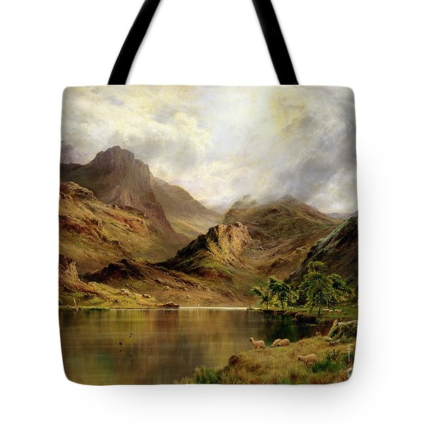 Banks Of Arrochar Tote Bag by Alfred de Breanski