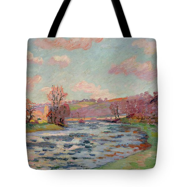 Banks Of The Creuse Tote Bag by Jean Baptiste Armand Guillaumin