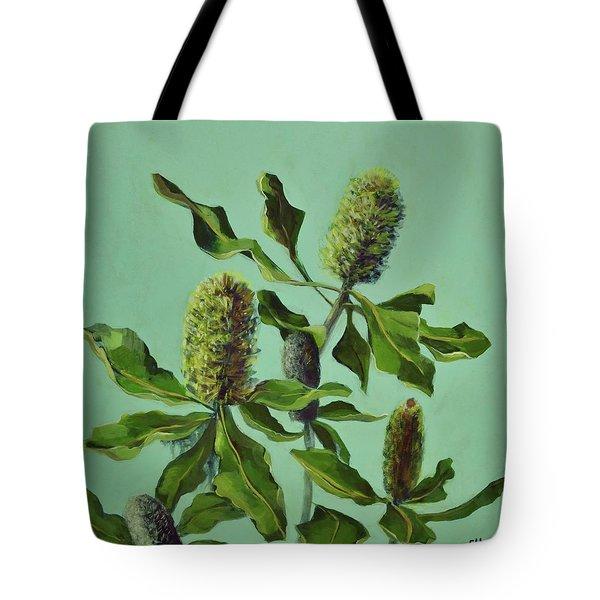 Banksias Australian Flora Painting Tote Bag