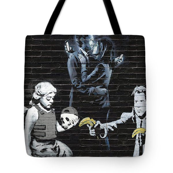 Banksy - Failure To Communicate Tote Bag by Serge Averbukh