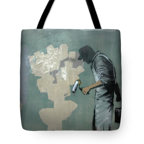 Banksy In New Orleans Tote Bag