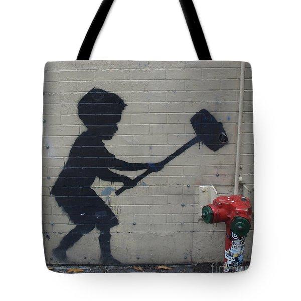 Banksy In New York Tote Bag