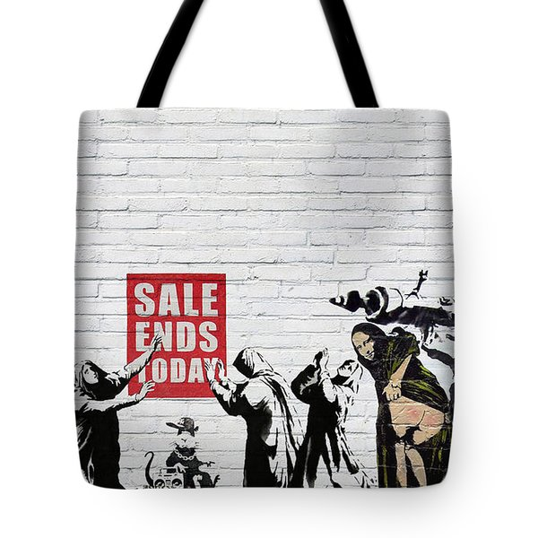 Banksy - Saints And Sinners   Tote Bag