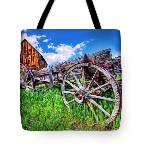 Bannack Wagon Tote Bag