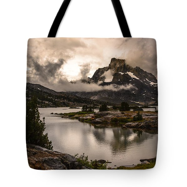 Banner Peak In A Clearing Storm Tote Bag