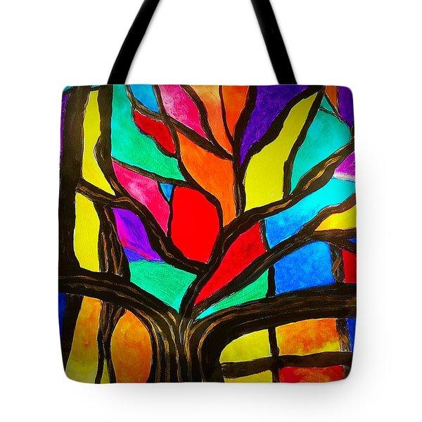Banyan Tree Abstract Tote Bag