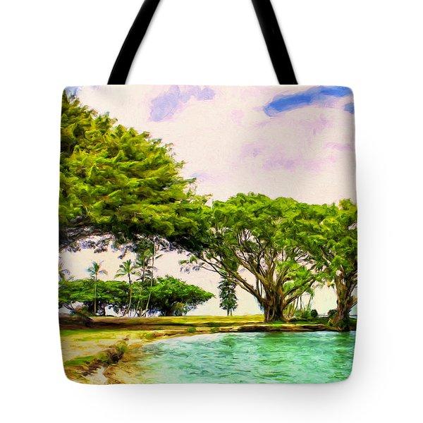 Banyan Trees At Reeds Bay Hilo Tote Bag