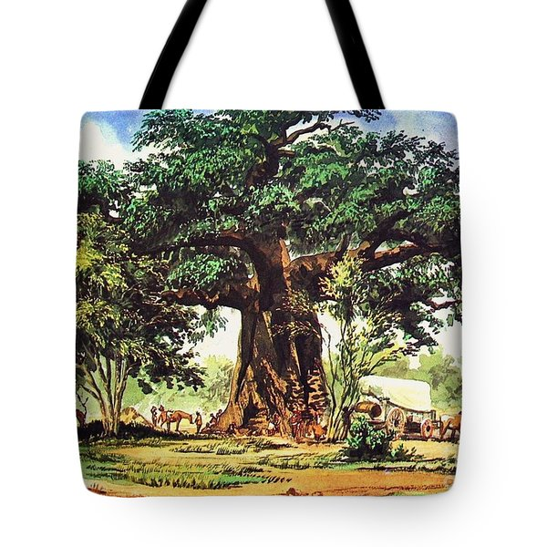Baobab Tree - South Africa Tote Bag by Pg Reproductions